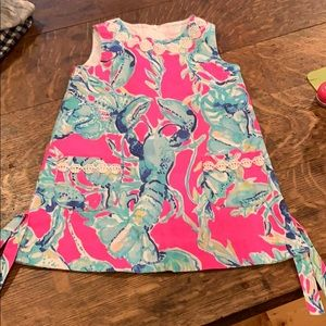 Lilly Pulitzer pink lobster classic dress